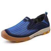 夏季男鞋子网布鞋套脚透气网眼运动户外登山鞋网鞋男士休闲鞋潮鞋