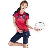 韩国yy羽毛球服套装女款比赛速干短袖网球T恤短裙短裤夏裙裤定制