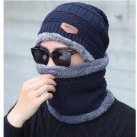 男士帽子加绒加厚保暖防寒青年帽护耳遮脸骑行帽针织围脖帽潮