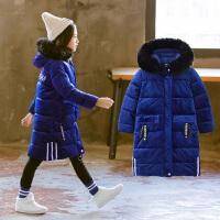 女童棉衣冬装长款棉袄儿童女孩金丝绒韩版外套潮
