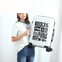 韩版行李箱男女通用小清新拉杆箱万向轮时尚旅行箱登机箱20寸 白色 20寸