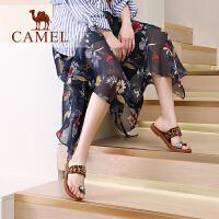 camel骆驼女鞋2019新款夏季平底凉拖女网红凉鞋女外穿时尚百搭��拖鞋女