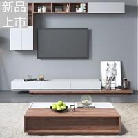 北欧电视柜 现代简约客厅电视柜茶几组合壁柜电视机柜组合墙壁柜定制定制 整装
