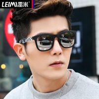 新款偏光太阳镜男士开车反光复古墨镜潮防紫外线驾驶专用眼镜