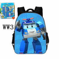 幼儿园中大班书包男女生4-7岁儿童变形警车卡通减负护脊双肩背包 WW3-学前班(文具)