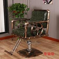 理发店椅子复古铁艺美发椅理容椅剪发椅美容美发椅发廊专用理发椅 官方标配