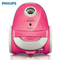 飞利浦(Philips)FC5125/81 家用小型 卧式吸尘器大吸力1400w 水洗滤网 有尘袋吸尘器 粉色