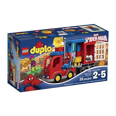 美国直邮 LEGO乐高 得宝10608蜘蛛侠蜘蛛卡车 28PCS 海外购 蜘蛛侠蜘蛛卡车