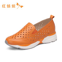 红蜻蜓女鞋新款圆头时尚透气休闲舒适单鞋女