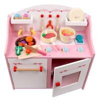 女孩做饭煮饭厨具餐具儿童过家家玩具套装木制过家家厨房玩具