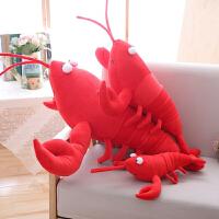 小龙虾玩偶毛绒玩具搞怪仿真抱枕食物创意大龙虾趴公仔睡觉抱女生
