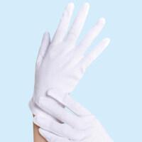 棉布工作业接待检阅白手套 劳保薄礼仪文玩棉布表演手套 珠宝防滑棉白手套