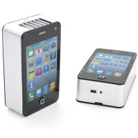 耀点100 苹果掌上空调 迷你风扇 配USB线白色