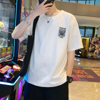 2020新款夏季t恤男韩版潮流修身休闲圆领体恤夏装男士半袖衣服TX19013