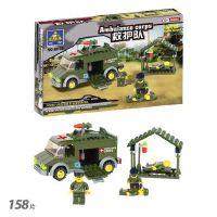 开智6032军事救护车医护小场景儿童益智拼装拼插塑料积木男孩玩具