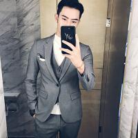 服套装男士三件套韩版修身伴郎礼服秋季休闲商务西装正装