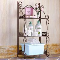 蜗家铁艺浴室置物架落地卫生间卧室多层架子 洗手间厨房收纳储物层架Z673
