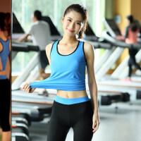 瑜伽健身服女运动跑步背心七分裤套装舞蹈健身房紧身衣
