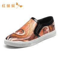 红蜻蜓男鞋春秋新款时尚舒适透气休闲潮鞋-
