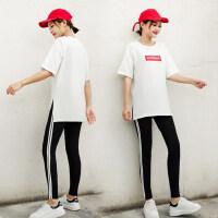 户外休闲运动套装女韩版宽松显瘦时尚学生九分裤两件套