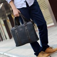 男包帆布包包男士手提包单肩包商务休闲包斜挎包公文包时尚韩版潮