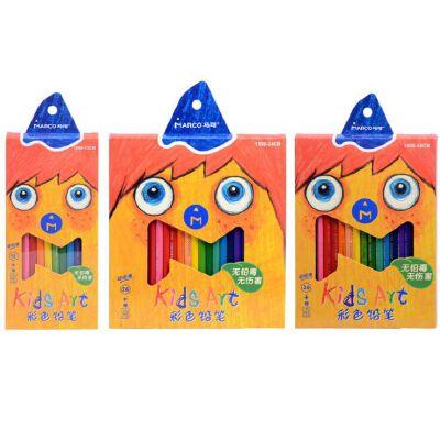 MARCO马可 1550超顺滑儿童彩铅 学生涂鸦彩色铅笔12/24/36色装 全场满50元包邮,新疆西藏除外