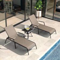 户外游泳池躺椅休闲沙滩躺椅室外庭院折叠躺床阳台午休午睡椅
