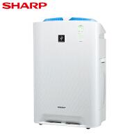夏普(SHARP) 空气净化器家用卧室 KC-CE50-W 加湿型除甲醛除雾霾PM2.5办公室除菌