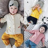 婴儿外套春秋季宝宝3长袖6全棉9上衣新生儿春款外套0-1岁纯棉衣服