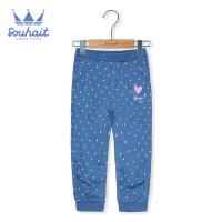 【3件3折:59元】水孩儿童装儿童针织七分裤女童短裤运动短裤