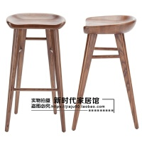 实木吧台椅餐椅家用北欧原木酒吧椅餐桌凳高脚凳子新中式椅简约椅