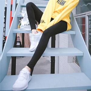 七格格黑色打底裤女外穿春季2018新款韩版百搭紧身长裤小脚铅笔裤