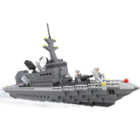 一号玩具 智拼插积木22001超级军事战队之巡航舰塑料拼装大型积木