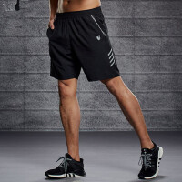 运动短裤男速干男士跑步五分裤健身房篮球训练裤宽松休闲