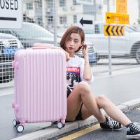 糖果色万向轮拉杆箱20英寸糖果色小清新行李箱女韩版学生24密码旅行箱 全粉色 20寸