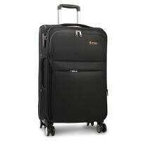 拉杆箱万向轮帆布28寸24大容量旅行箱密码行李箱牛津布男女登机20 深棕色・ 3018(有刹车轮)