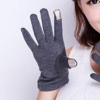 防滑韩版时尚修手触控手套女 秋冬保暖加厚加绒开车手套女
