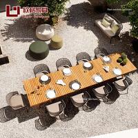 户外桌椅藤椅创意藤编家具阳台桌椅休闲椅子露台花园餐厅样板房