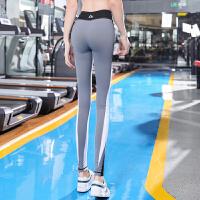 蜜桃臀健身裤女提臀弹力紧身翘臀高腰收腹运动裤女紧身外穿瑜伽裤 浅灰色 图片色