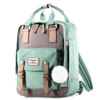 妈咪包甜甜圈双肩背包大容量外出旅行母婴包多功能时尚轻便宝妈包 薄荷绿色