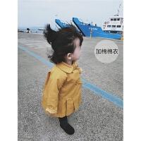 女童棉衣冬季2017新款韩版女宝宝加厚保暖上衣婴幼儿时尚长款