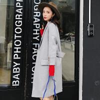 呢子大衣女中长款韩版2018宽松女装矮个子学生秋冬装反季羊毛外套