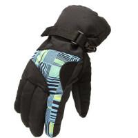 滑雪手套 登山防水加厚保暖骑行防滑雪花男款户外手套