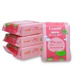 Combi康贝湿纸巾 婴儿柔湿巾 新生儿宝宝湿巾纸25抽*4包 清爽呵护
