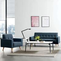 办公沙发茶几组合套装办公室商务接待三人位休息区布艺洽谈沙发