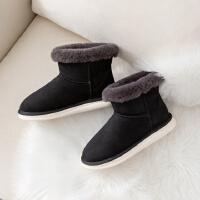 时尚家居棉拖鞋女家用秋冬季可爱毛绒保暖室内厚底居家棉鞋情侣