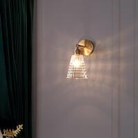 现代轻奢水晶壁灯创意个性背景墙灯卧室床头灯走廊过道灯