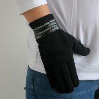 棉全指手套骑车防寒防风加绒触屏手套男加厚防寒保暖男士手套