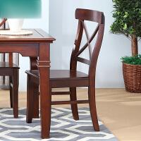 全实木餐椅实木休闲靠背椅子美式餐厅书桌复古椅子餐椅