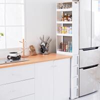 夹缝收纳柜 抽屉式带滑轮置物架组合厨房浴室缝隙整理架加厚窄柜子